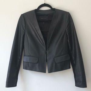 BCBG Vegan Leather Blazer